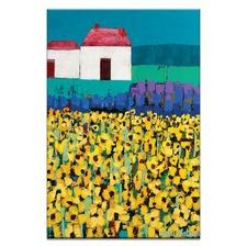 Sunflower Field by Anna Blatman Art Print on Canvas
