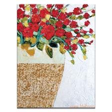 Geranium Pot by Anna Blatman Art Print on Canvas