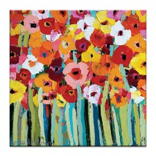 Julies Blooms by Anna Blatman Art Print on Canvas