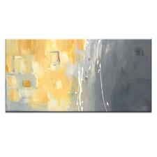 """""""50 Shades Of Gray And Yellow"""" Wall Art"""