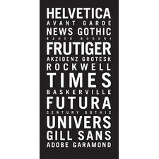Fonts Wall Art by Teresa Ventura