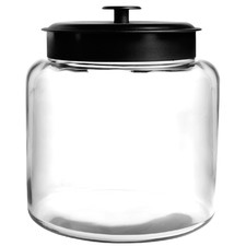 Anchor Hocking 5.7L Montana Jar & Black Metal Lid Silicone Sealed