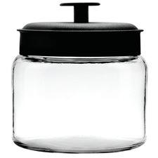 Anchor Hocking 1.5L Montana Jar & Black Metal Lid Silicone Sealed