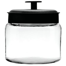 Anchor Hocking 1.9L Montana Jar & Black Metal Lid Silicone Sealed