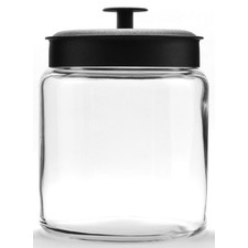 Anchor Hocking 2.9L Montana Jar & Black Metal Lid Silicone Sealed