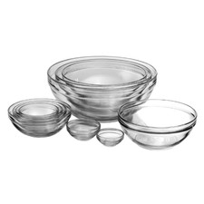 Set of 10 Anchor Hocking Prep & Mix Bowls