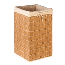 Square Bamboo Wicker Hamper