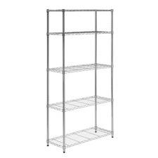 5 Tier Chrome Storage Shelves 90Kgs