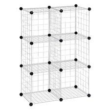 6 Pack Modular Mesh Storage Cube