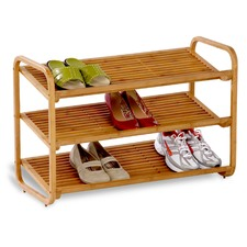 3 Tier Deluxe Bamboo Shoe Shelf