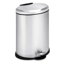 12 Litre Oval Stainless Steel Step Can