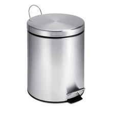 5 Litre Round Stainless Steel Step Can
