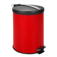 12 Litre Step Trash Can With Stainless Steel Strip