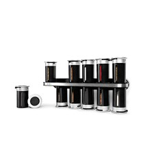 Zero Gravity Wall-Mount Magnetic Spice Rack 12 Canisters