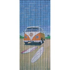 Camper Bamboo Bead Single Panel Curtain