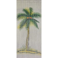 Palm Bamboo Single Panel Curtain