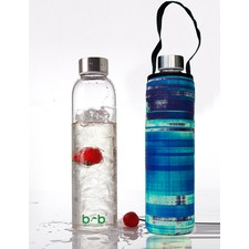 Glass Is Greener 750ml Bottle and Carry Cover Glassy Print