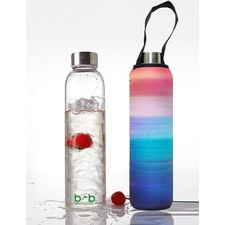 Glass Is Greener 750ml Bottle and Carry Cover Peace Print