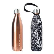 750ml Future Bottle & Copper Feather Carry Cover