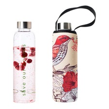 570ml Glass Is Greener Bottle & Bird Carry Cover