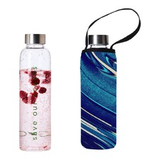 570ml Glass Is Greener Bottle & Breeze Carry Cover