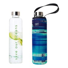 750ml Glass Is Greener Bottle & Glass Carry Cover