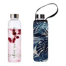 570ml Glass Is Greener Bottle & Palm Carry Cover