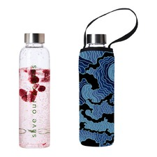 570ml Glass Is Greener Bottle & Tsumi Carry Cover