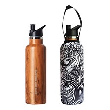 750ml Sports Cap Thermal Traveller Bottle & Koru Carry Cover