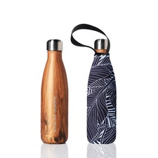 750ml Future Bottle & Wood Leaf Carry Cover