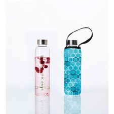 570ml Glass Is Greener Bottle & Bubble Carry Cover