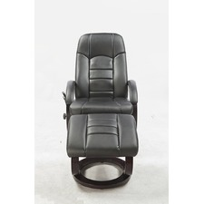 PU Leather Massage Chair Recliner Ottoman Lounge Remote Deluxe