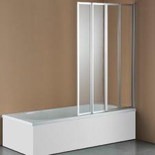 4 Fold Chrome Folding Bath Shower Screen Door Panel