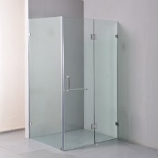 120cm x 90cm Frameless 10mm Glass Shower Screen