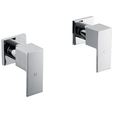 Chrome Bathroom Shower/Bath Mixer Tap Set