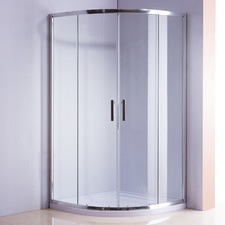 Rounded Sliding Curved Glass Shower Screen
