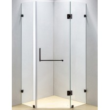 Black Diamond Shower Screen with Rounded Handle