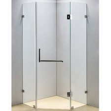 Chrome Frameless Diamond Glass Shower Screen