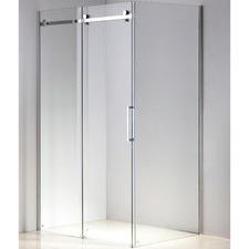 120 x 90 x 195cm Frameless Glass Sliding Door