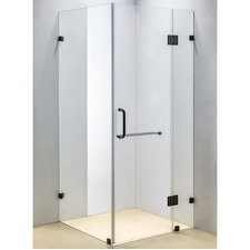 Square Shower Screen with Round Handle