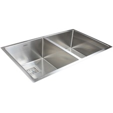 84 x 51cm Double Stainless Steel Kitchen Sink