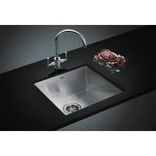 44cm Square Single Stainless Steel Sink Bowl