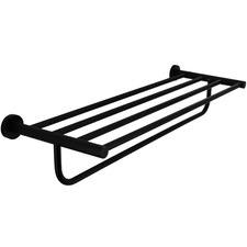3 Bar Matte Black Classic Bathroom Towel Rail