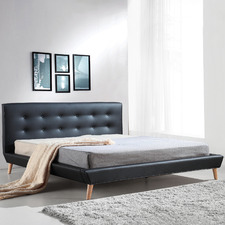 Ramone Faux Leather King Bed Frame