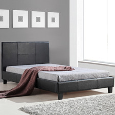 Barocca Faux Leather King Single Bed Frame