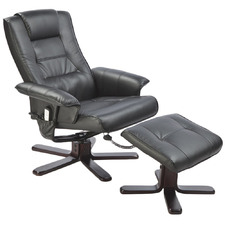 Malandi Faux Leather Massage Chair with Footrest