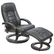 Malandi Faux Leather Massage Chair with Ottoman