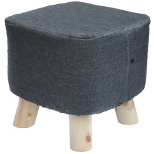 Charcoal Marty Pouffe Footstool