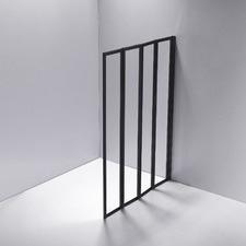Black 4 Fold Glass Folding Shower Screen