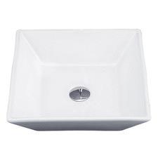 41.5cm White Rectangular Ceramic Basin